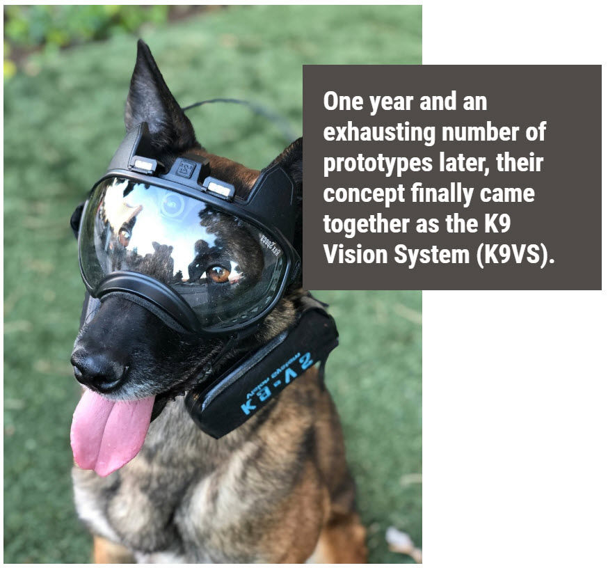 Calibrated - k9 vision system pour brigade canine et cyno